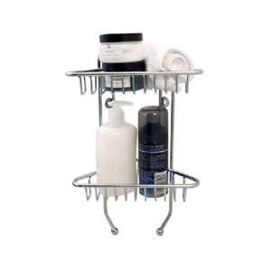 Chrome Wire Wall Mounted 2 Tier Shower Caddy