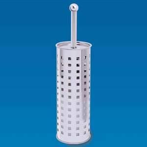 Caraselle Free-Standing Stainless Steel Toilet Brush & Holder
