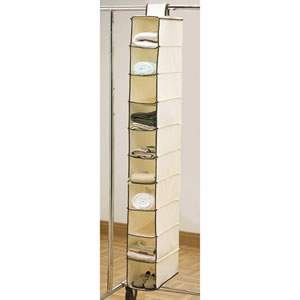 Cream Hanging Shoe Organizer from Caraselle