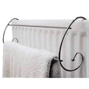 Curved Chrome Radiator Towel Rail