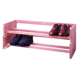 Deluxe Woodlore Stackable Shoe Rack in Cedar Wood from Caraselle