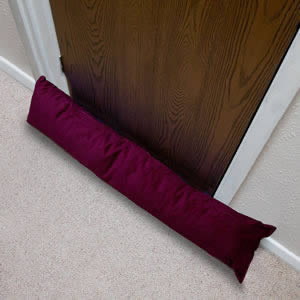 The New Caraselle British Made Luxury Draught Excluder in Purple Corduroy