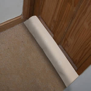 Luxury Draught Excluder in Light Beige Waffle
