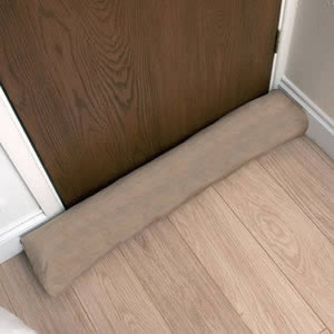 Caraselle British Designed and British Made Luxury Draught Excluder in Lovely Beige Corduroy