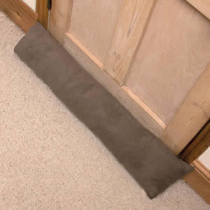 Luxury Draught Excluder in Mid Brown Corduroy
