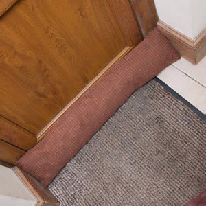 Caraselle British Designed & British Made Luxury Draught Excluder in Mid Brown & Rust