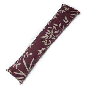 Caraselle British Designed &amp; British Made Luxury Draught Excluder in Rust &amp; Beige