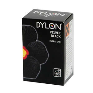 Caraselle Dylon Fabric Dye Velvet Black 200g