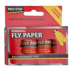 1 Pack of 4 Powerful Fly Papers