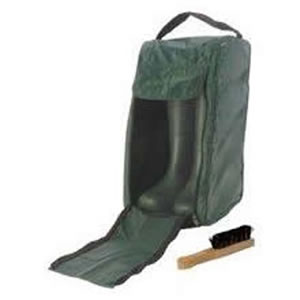 Deluxe Wellington Boot Zipped Bag with Free Boot Brush &amp; Pocket for Walking Socks