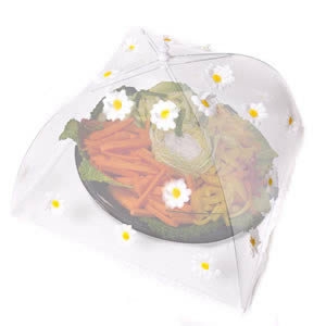 Caraselle Pop-Up Large Mesh Food Cover Umbrella In Polyester with Daisies Design 48 x 48 cm