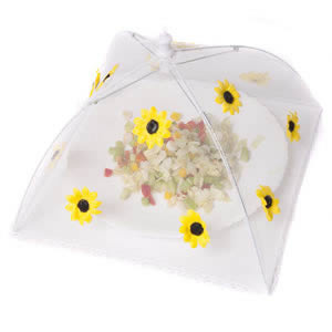 Caraselle Pop-Up Mesh Food Cover Umbrella In Polyester with Sunflowers Design 30 x 30 cm 18 cm