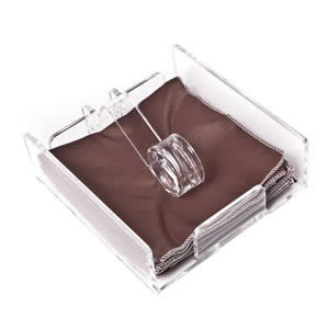 Caraselle Acrylic Napkin Holder with Easy Release Arm 175 x 180 x 60 mm
