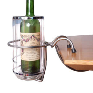 Caraselle Wine /  Champagne Acrylic Cooler &amp; Table Mounted Holder