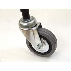 "1 Pack of 4 4"" Heavy Duty Steel Castors for Garment Rails"