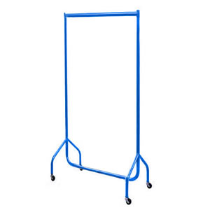 3ft Bespoke Caraselle Custom Coated Blue Garment Rail.  Made in Britain