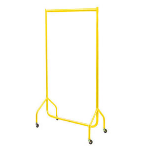 3ft Bespoke Caraselle Custom Coated Yellow Garment Rail.  Made in Britain
