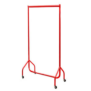 3ft Bespoke Caraselle Custom Coated Red Garment Rail.  Made in Britain
