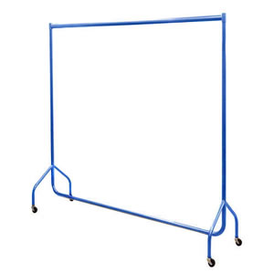 6ft Bespoke Caraselle Custom Coated Blue Garment Rail. Made in Britain
