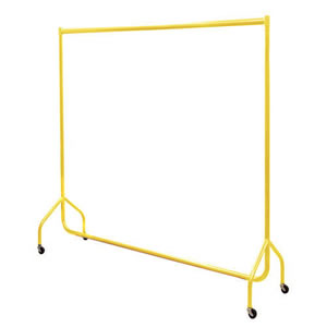Pack of 2 x 6ft Bespoke Caraselle Yellow Garment Rails.  Made in Britain