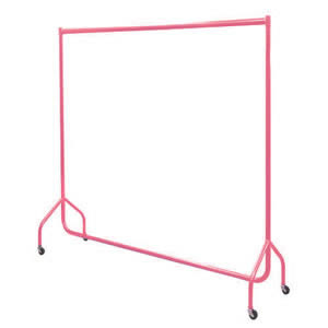 6ft Bespoke Caraselle Custom Coated Bright Pink Garment Rail.  Made in Britain