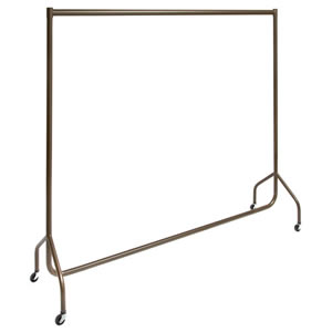 The New British Designed & British Made Stylish Caraselle Solid Steel 6' Wide Deluxe Garment Rail Finished in Italian Architectual Powder Coated Bronze