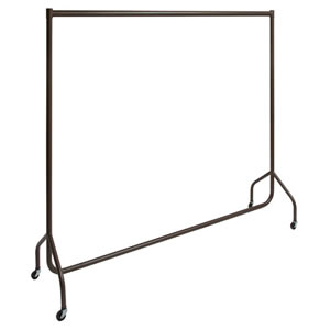 The New British Designed & British Made Stylish Caraselle Solid Steel 6' Wide Deluxe Garment Rail Finished in Italian Architectual Powder Coated Bronze with a Textured Surface