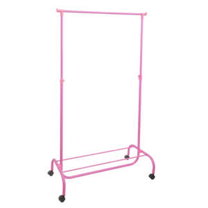 Pink Garment Rail with Shoe Rack