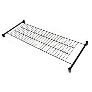 Unique Spacesaving 4' Bottom Shelf for our 4' Superior All Black Clothes Rail