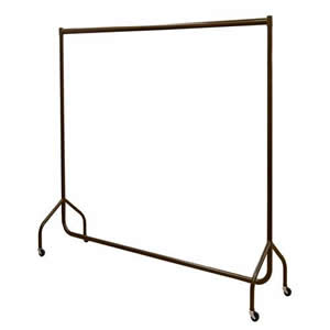 Chocolate Brown Stylish Solid Steel 6' Wide Deluxe Garment Rail