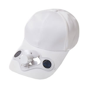 Caraselle Solar Powered White Baseball Cap