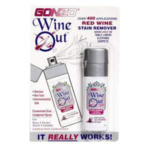 Gonzo 'Wine Out' Spray for Red Wine Stain Removal