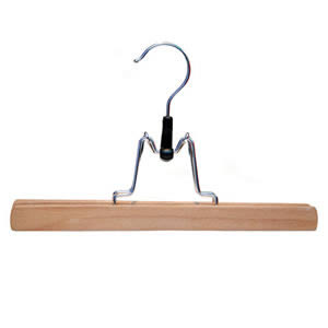 The Caraselle Trouser Clamp Hanger 25cms wide Felt Lined Rotating Chrome Hook