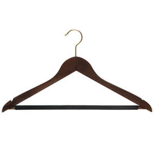 Caraselle Deluxe Wooden Suit Hanger 44cms with Non-Slip Trouser Bar