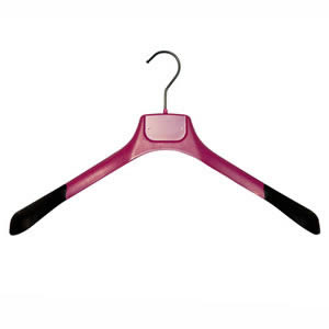 Gok's Pink Deluxe Shaped Jacket Hanger 45 cms wide with 3cms wide Non-Slip Shoulder Pieces