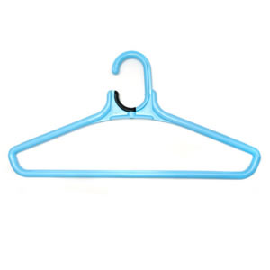Deluxe Jumbo Suit Hanger in Blue with Extra Hook 46 cm wide