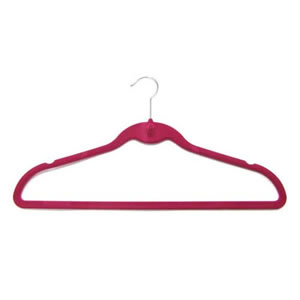 Caraselle Non-Slip Suit Huggable Hanger in Deep Pink 45x25cm