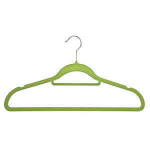 Non-Slip Huggable Hanger in Citrus with Tie/Belt Bar & Notches 45cm wide & 25cm high