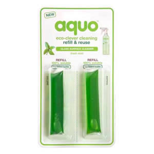 Aquo Glass Surface Cleaner Refill Pack with 2 capsules