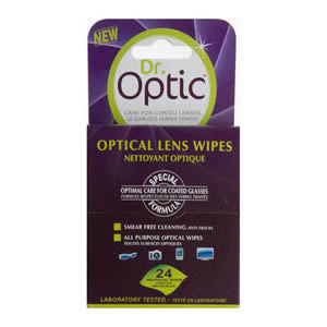 Pack of 24 Dr. Optic Optical Lens Wipes
