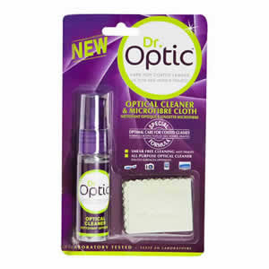 The Dr Optic Optical Cleaner 18ml & Microfibre Cloth