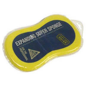 The Expanding Super Sponge Extra Absorbent Synthetic Sponge for Interiors & Exteriors