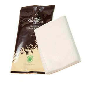 Pack of 24 Lord Sheraton Leather Clean & Shine Wipes from Caraselle Direct