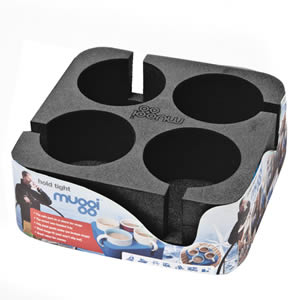 The Caraselle Black Muggi 4 Cup Holder Designed & made in England