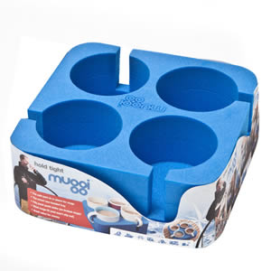 The Caraselle Blue Muggi 4 Cup Holder Designed & made in England
