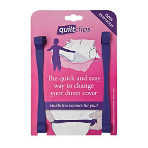 The Quilt Clip the quick & easy way to change your duvet cover