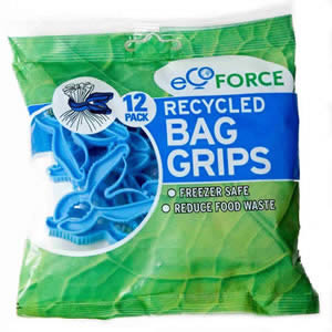 Pack of 12 x Ecoforce Recycled Bag Grips from Caraselle