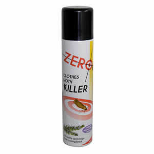 Clothes Moth Killer Aerosol 300ml. Kills Moths &amp; stops them coming back.