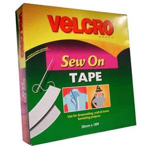 Jumbo Pack of VELCRO Brand White Sew On Tape 20mm x 10M (60270)