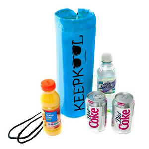 Insulated Bottle Cooler Bag in Blue. Keepkool logo from Caraselle
